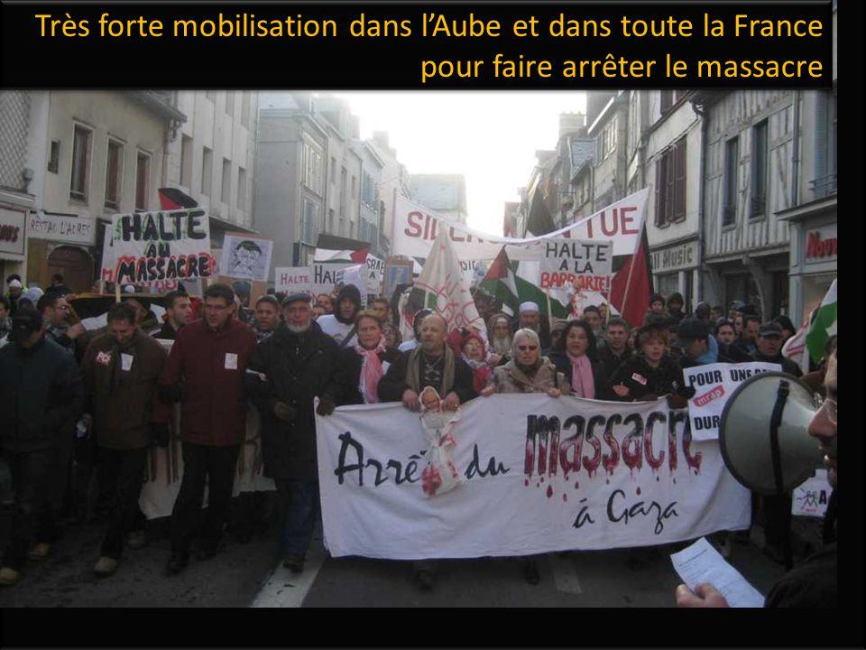 Très forte mobilisation dans l'Aube et dans toute la France pour faire arrêter le massacre