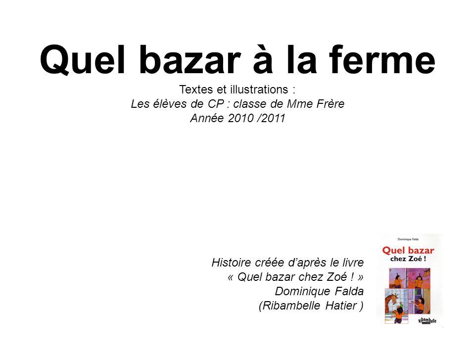 Histoire créée d'après le livre « Quel bazar chez Zoé ! » Dominique Falda (Ribambelle Hatier ) Quel bazar à la ferme Textes et illustrations : Les élè