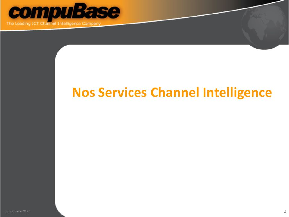 2 Nos Services Channel Intelligence compuBase 2007