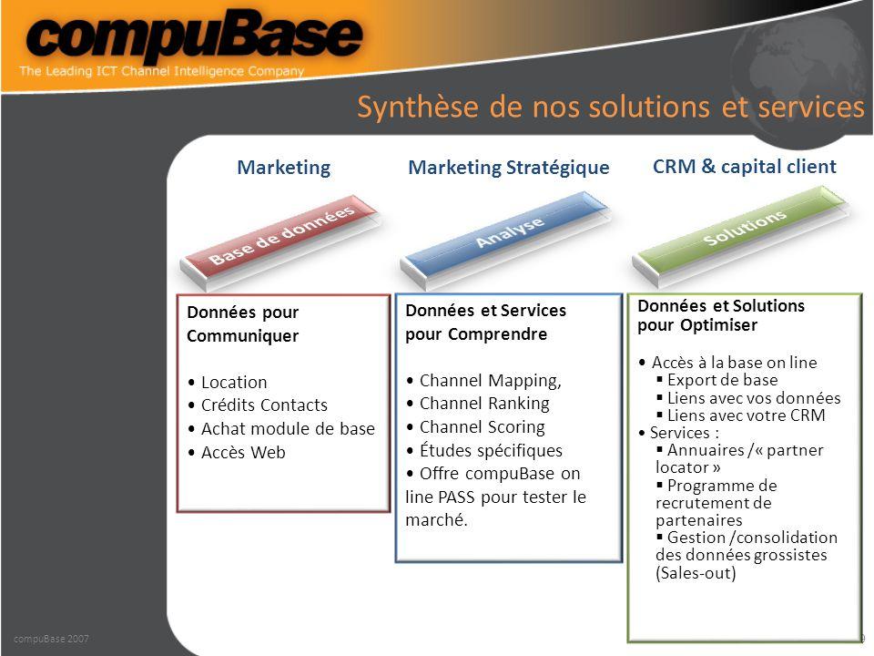 10 Quelques cas client – Accès privatif à Microsoft pour utiliser les critères en mode on line combinés à ceux de compuBase.