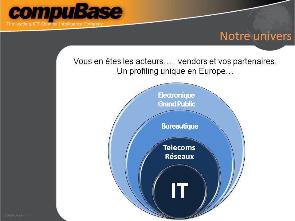 Notre univers Electronique Grand Public Bureautique Telecoms Réseaux IT Vous en êtes les acteurs….
