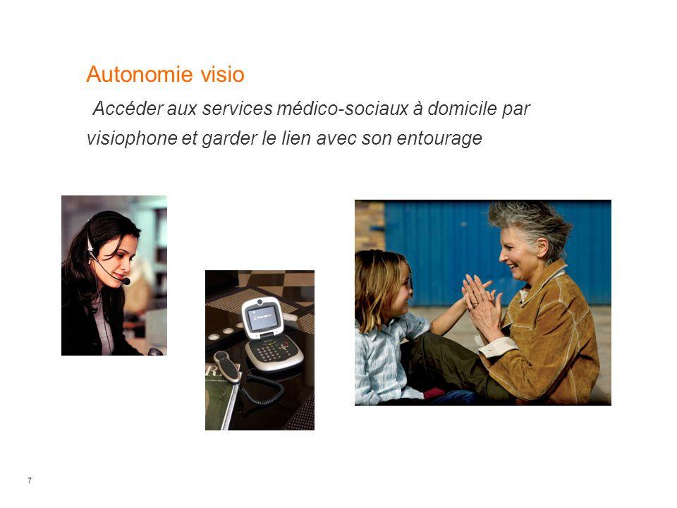 7 Autonomie visio Accéder aux services médico-sociaux à domicile par visiophone et garder le lien avec son entourage Date