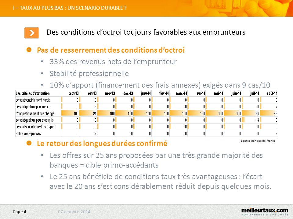 07 octobre2014 Page 25 II – LES ENVIES D'ACHAT : CLASSEMENT DES VILLES Marseille Très légère reprise Zone d'emplois difficiles qui ne favorise pas la mutation Des différences entre les arrondissements.