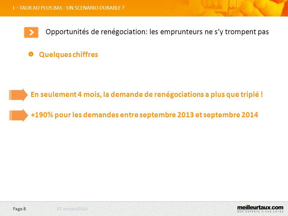 07 octobre2014 Page 19 II – LES ENVIES D'ACHAT : CLASSEMENT DES VILLES Nantes Nantes: reprise douce et plus faible en 2014 qu'au S2 2013 Nantes reste une zone attractive notamment pour jeunes couples.
