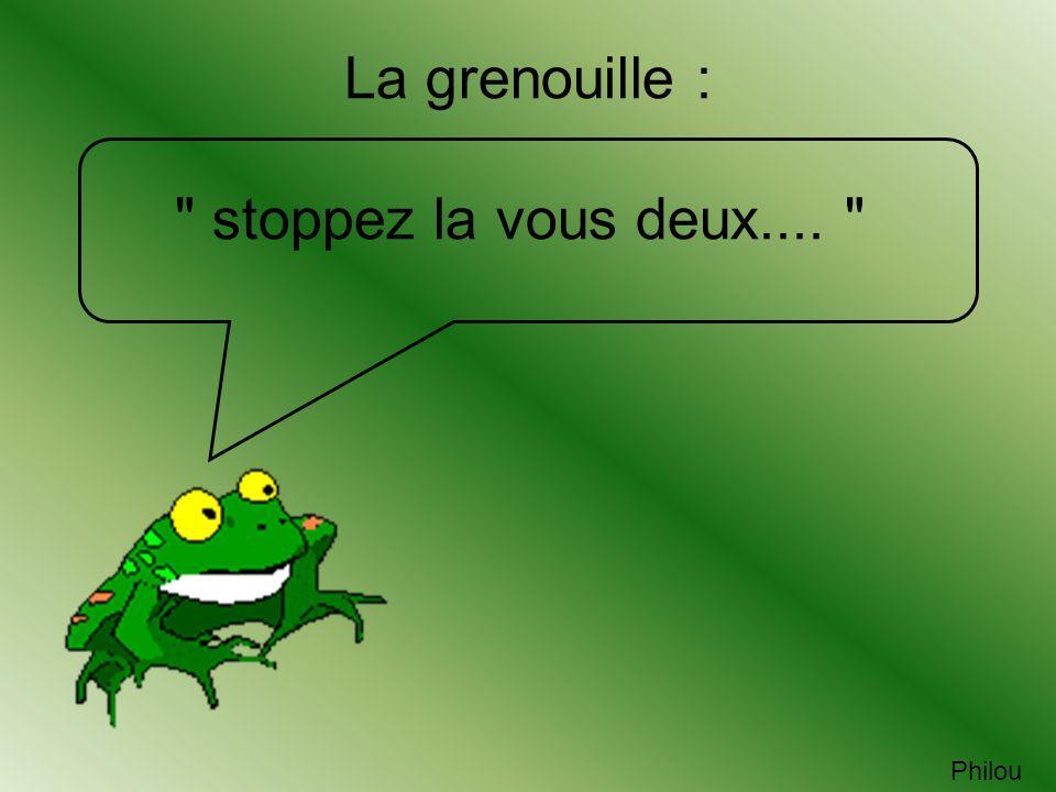 La grenouille : stoppez la vous deux.... Philou