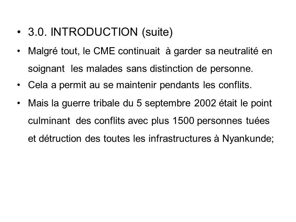 III. CME VICTIME CONFLITS INTER ETHNIQUES 3.0. INTRODUCTION Le CME s'est développe dans un climat de conflits interethniques. Après chaque 10 ans il y