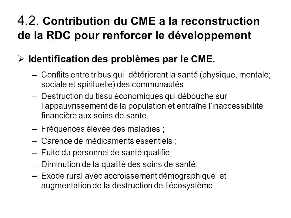 4.1.Contribution a la résolution des conflits au N.E. du Congo pendant la guerre Maintien du travail de son personnel issue des groupes en conflit dan