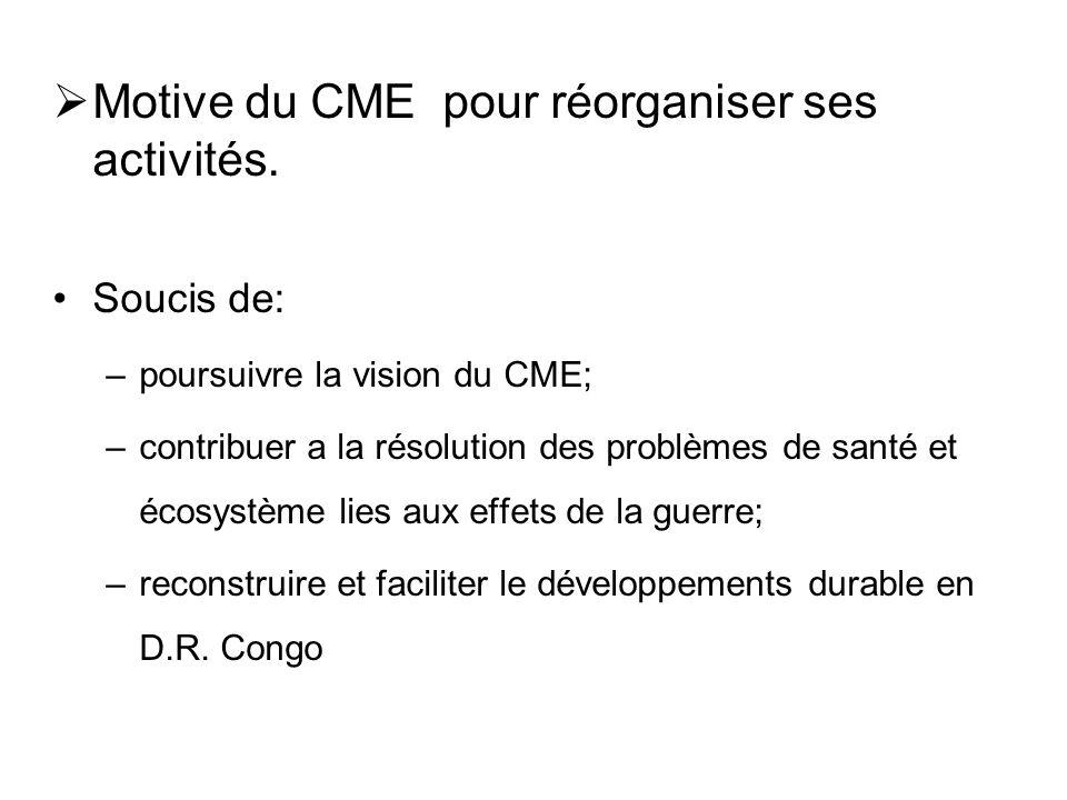 4.2. Contribution du CME a la reconstruction de la RDC pour renforcer le développement  Identification des problèmes par le CME. –Conflits entre trib