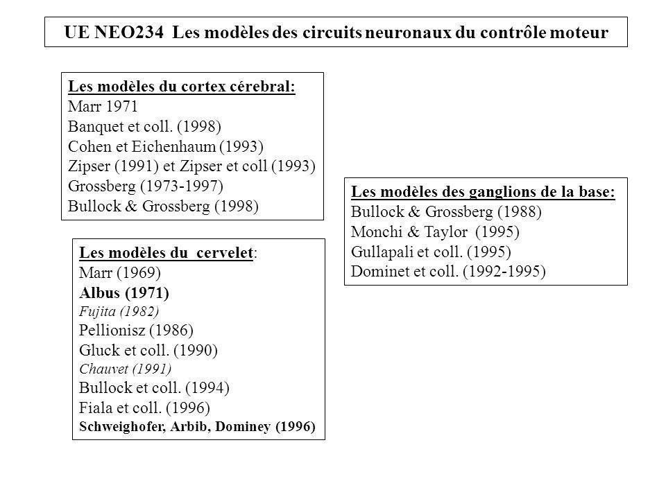 Les modèles du cortex cérebral: Marr 1971 Banquet et coll.