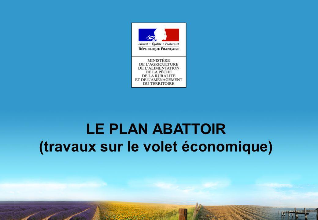 LE PLAN ABATTOIR (travaux sur le volet économique)