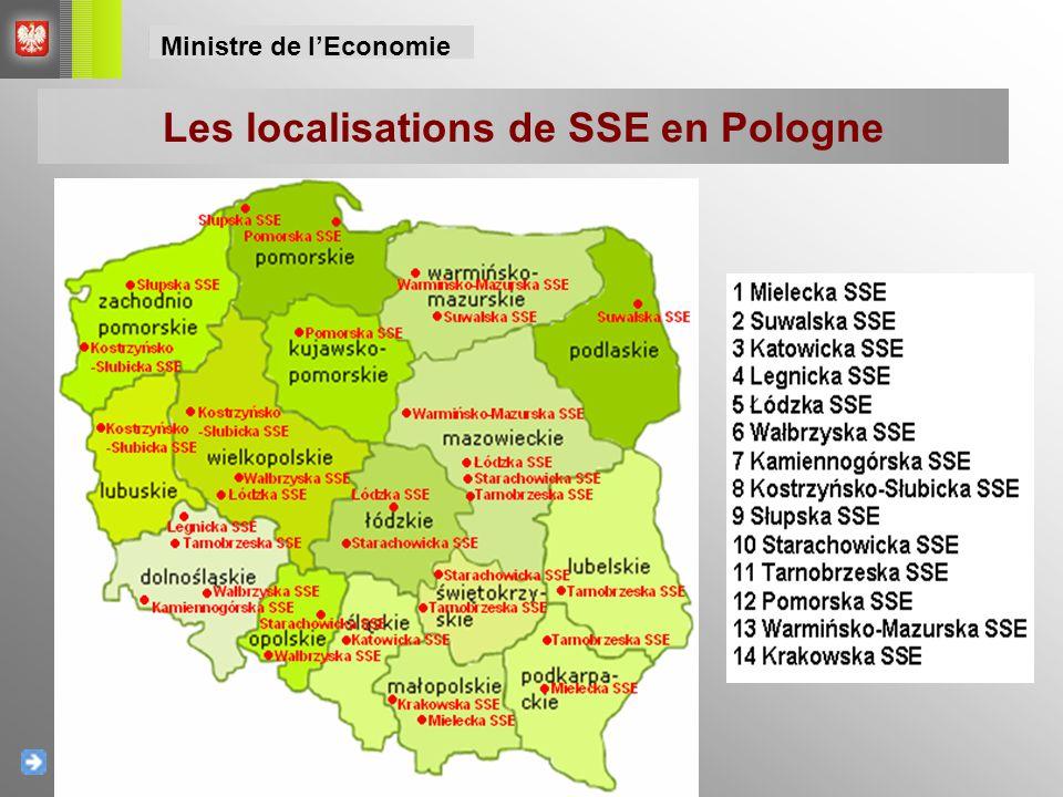 Les localisations de SSE en Pologne Ministre de l'Economie