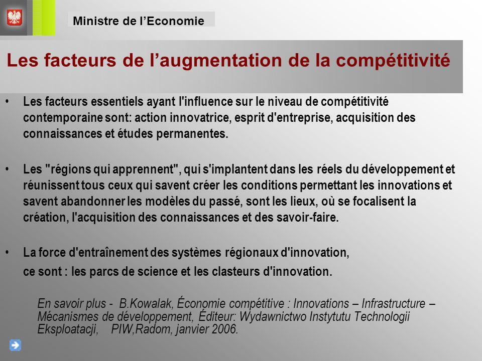 Les facteurs essentiels ayant l'influence sur le niveau de compétitivité contemporaine sont: action innovatrice, esprit d'entreprise, acquisition des