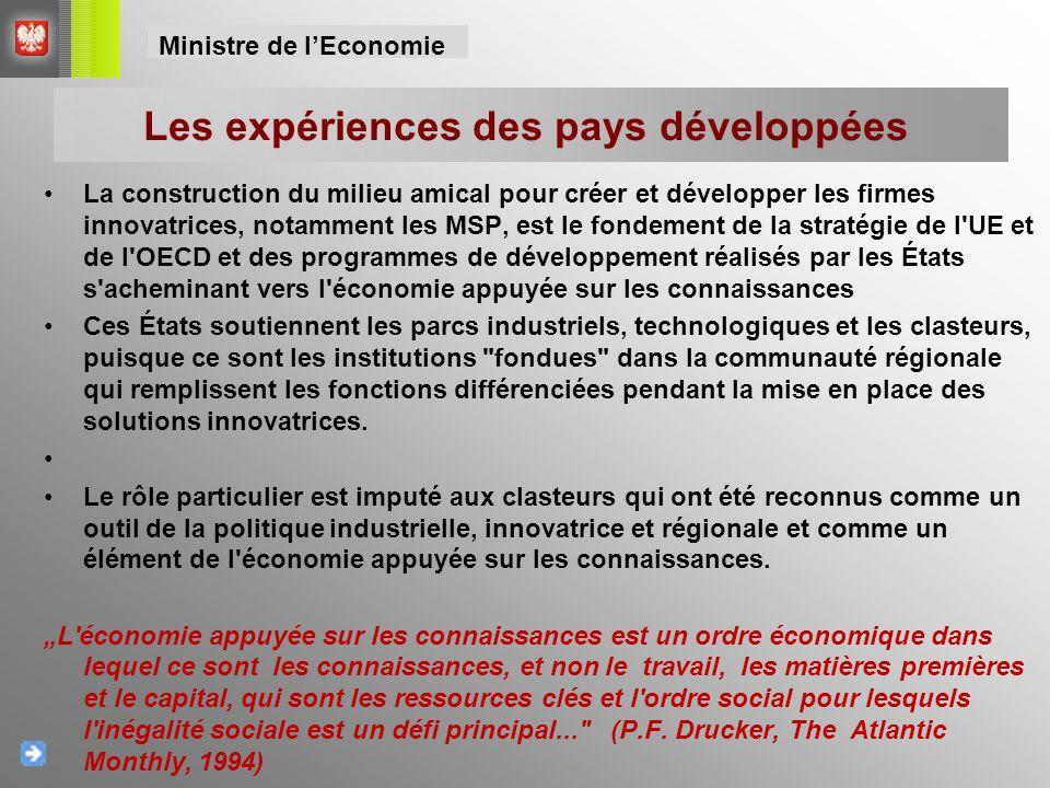 La localisation des parcs et des incubateurs technologiques Ministre de l'Economie