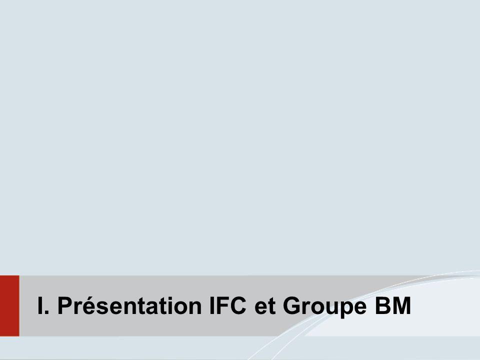I. Présentation IFC et Groupe BM