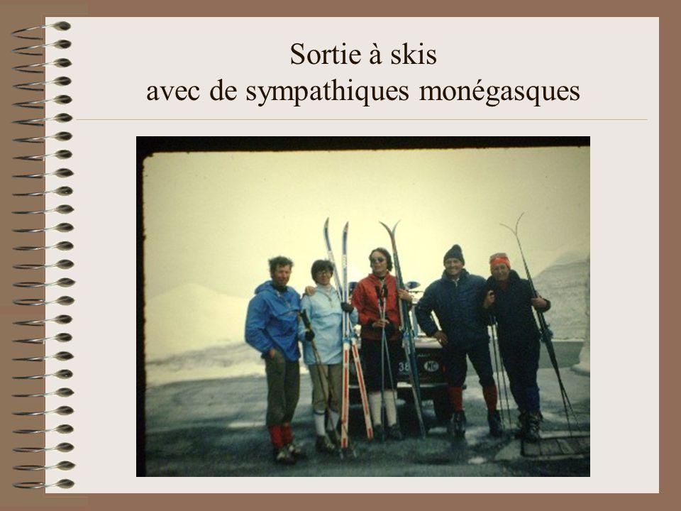 Sortie à skis avec de sympathiques monégasques