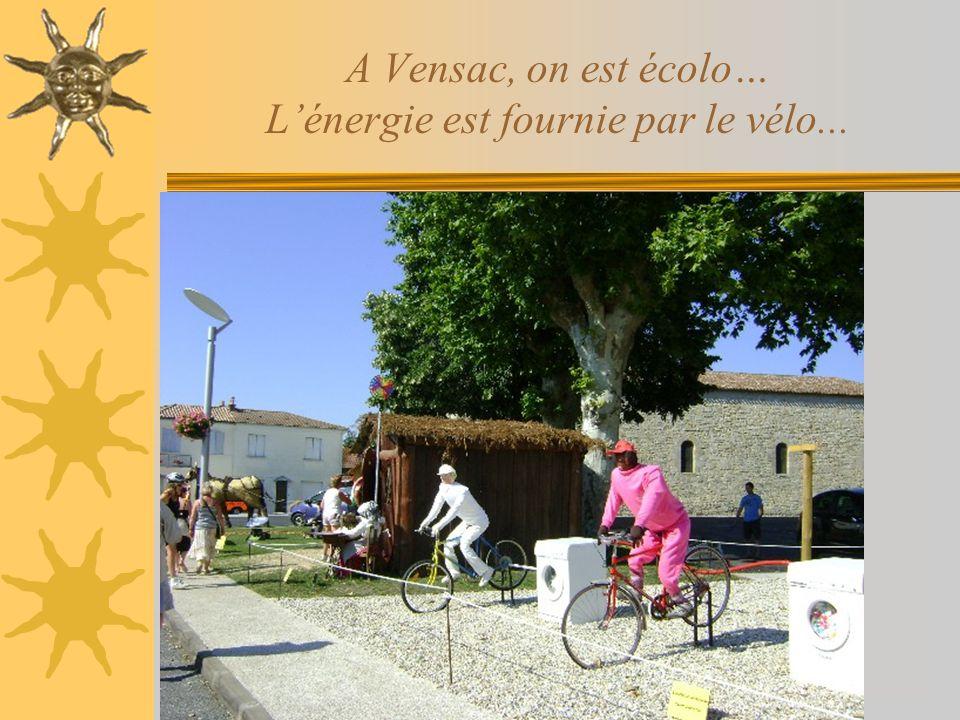 A Vensac, on est écolo… L'énergie est fournie par le vélo...