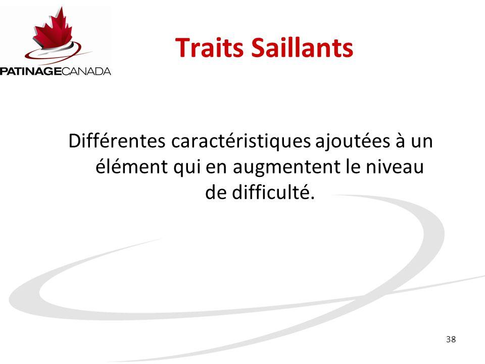 38 Traits Saillants Différentes caractéristiques ajoutées à un élément qui en augmentent le niveau de difficulté.