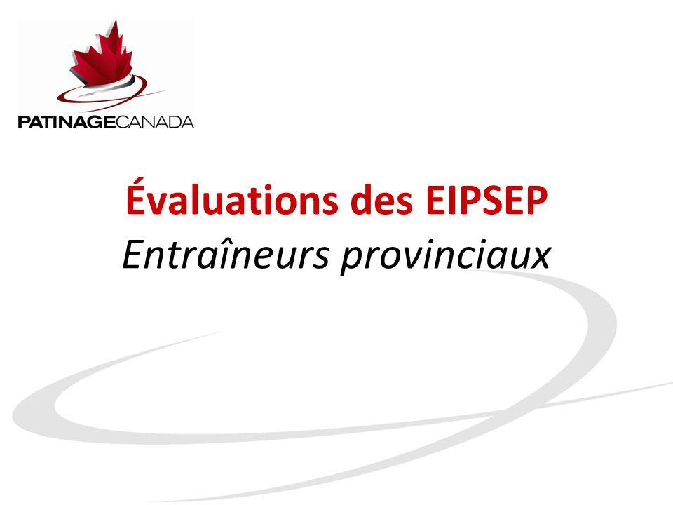 Évaluations des EIPSEP Entraîneurs provinciaux