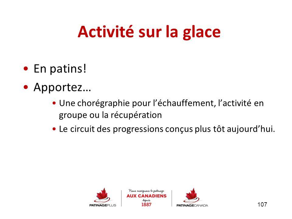 En patins! Apportez… Une chorégraphie pour l'échauffement, l'activité en groupe ou la récupération Le circuit des progressions conçus plus tôt aujourd