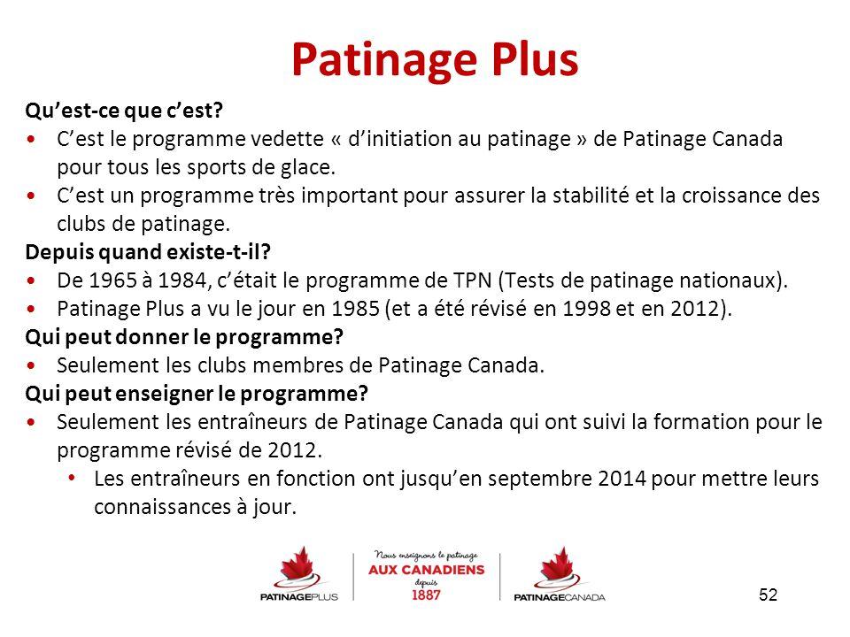 Patinage Plus Qu'est-ce que c'est? C'est le programme vedette « d'initiation au patinage » de Patinage Canada pour tous les sports de glace. C'est un
