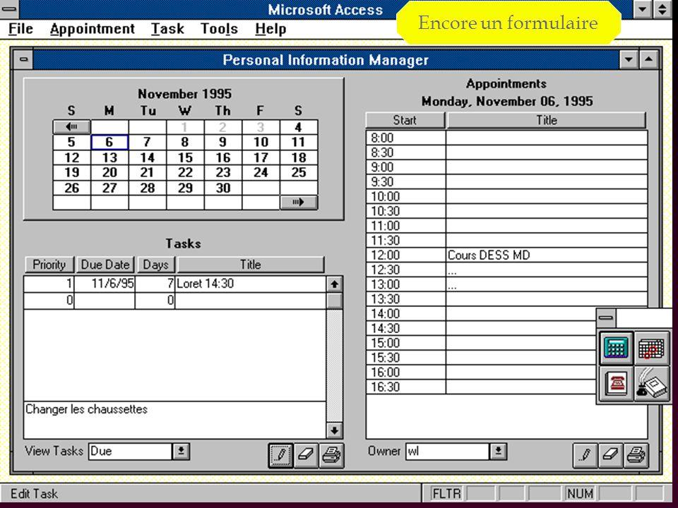 40 Démarrage : MsAccess 2007