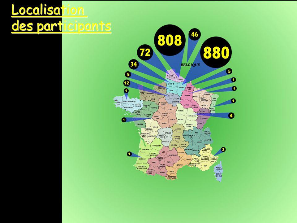 14Localisation des participants