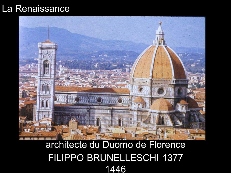 La Renaissance architecte du Duomo de Florence FILIPPO BRUNELLESCHI 1377 1446