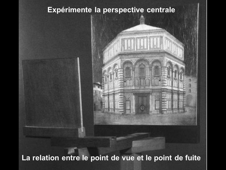 Expérimente la perspective centrale La relation entre le point de vue et le point de fuite