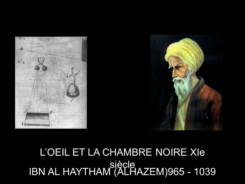 IBN AL HAYTHAM (ALHAZEM)965 - 1039 L'OEIL ET LA CHAMBRE NOIRE XIe siècle