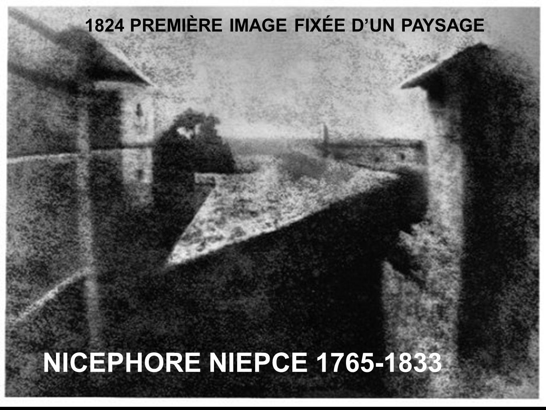 NICEPHORE NIEPCE 1765-1833 1824 PREMIÈRE IMAGE FIXÉE D'UN PAYSAGE