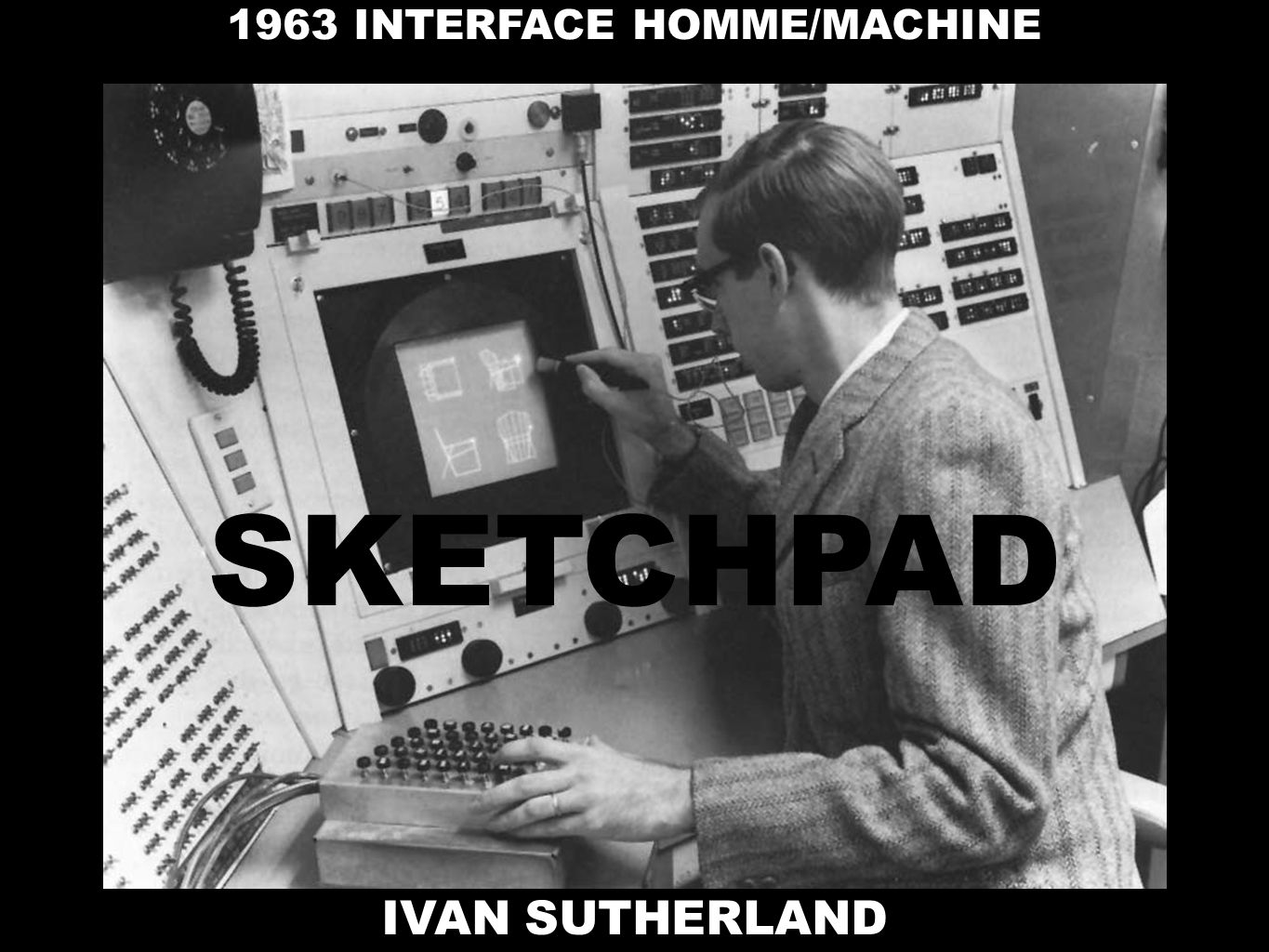IVAN SUTHERLAND 1963 INTERFACE HOMME/MACHINE SKETCHPAD