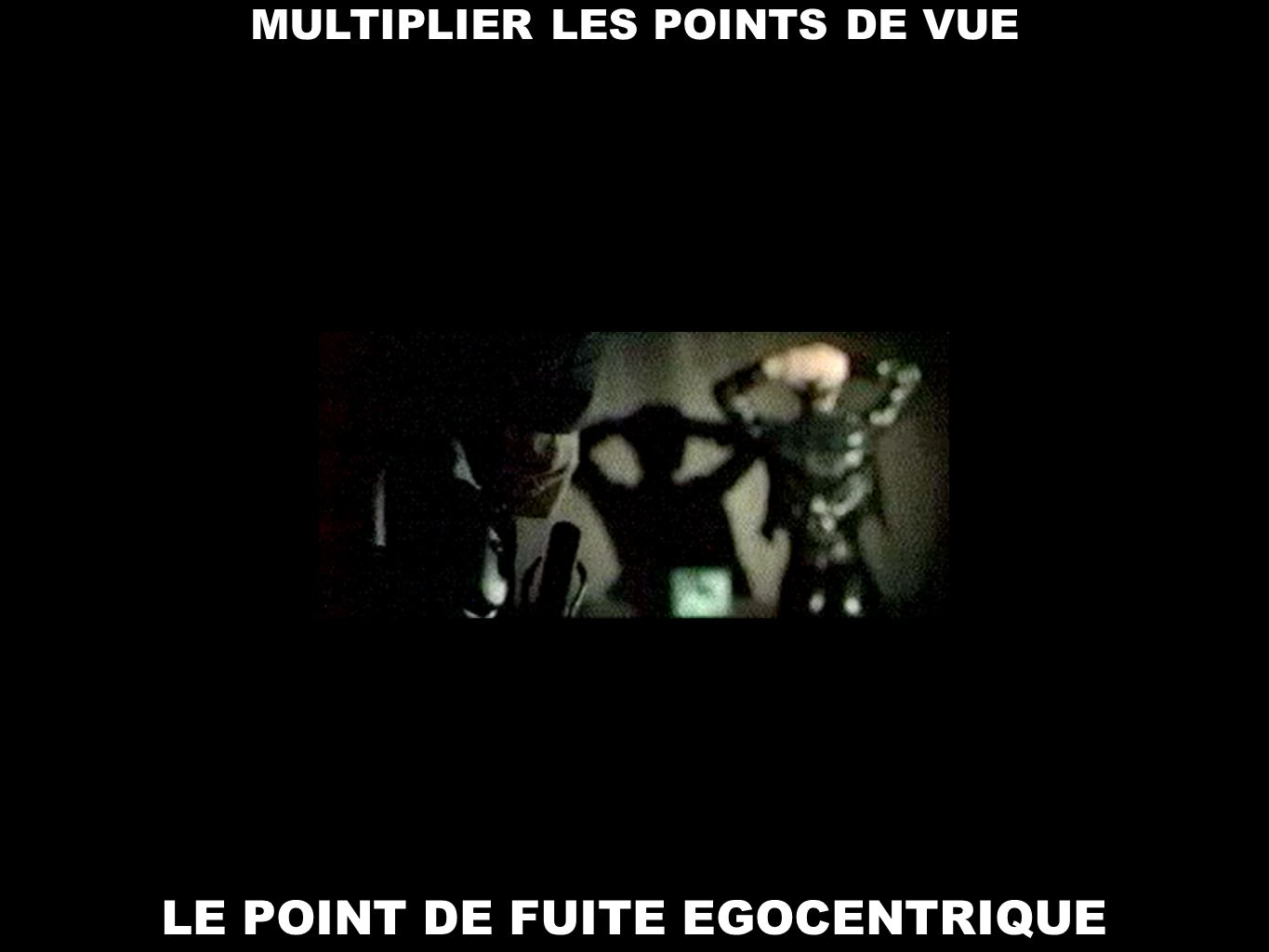 LE POINT DE FUITE EGOCENTRIQUE MULTIPLIER LES POINTS DE VUE