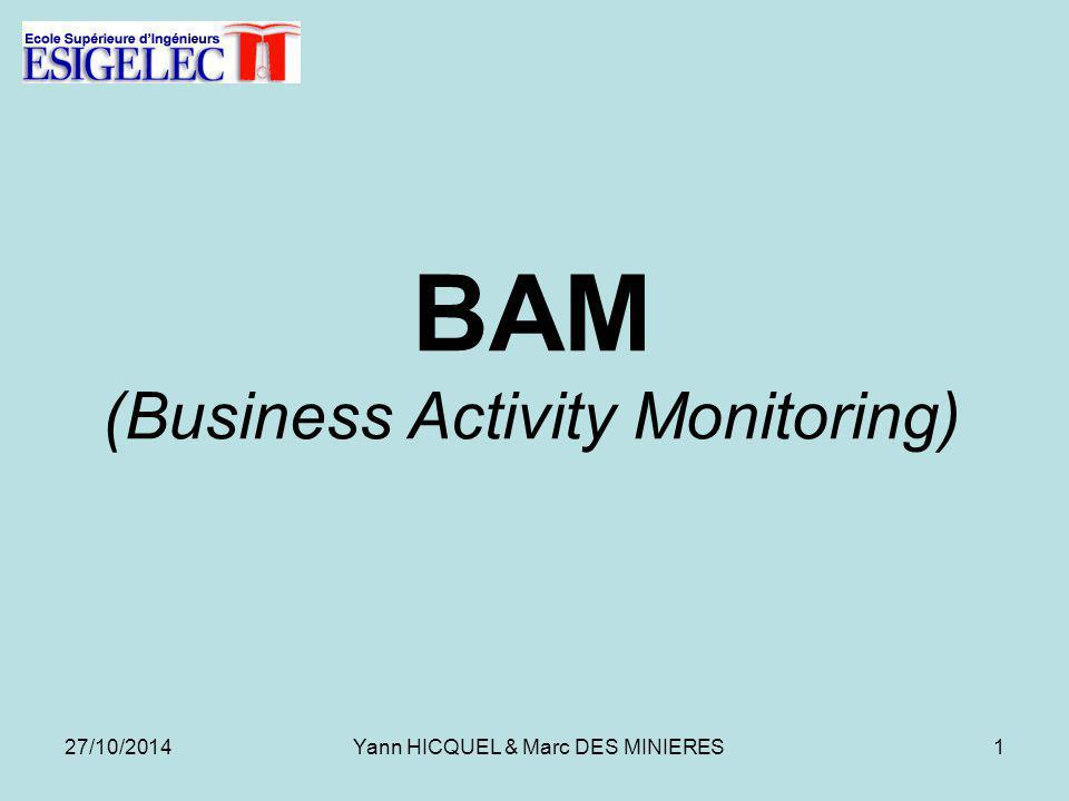 BAM (Business Activity Monitoring) 27/10/20141Yann HICQUEL & Marc DES MINIERES