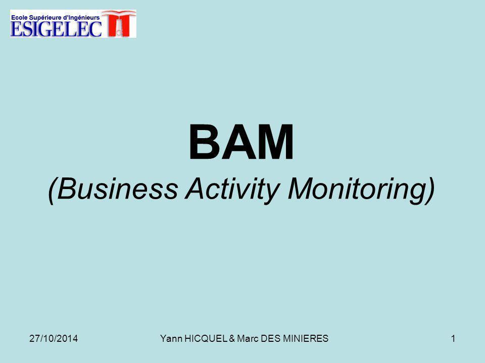 BAM (Business Activity Monitoring) 27/10/20141Yann HICQUEL & Marc DES MINIERES
