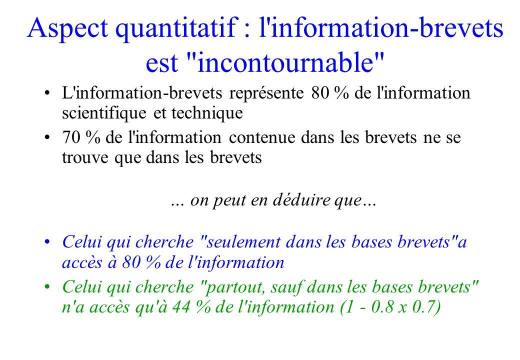 Aspect quantitatif : l'information-brevets est