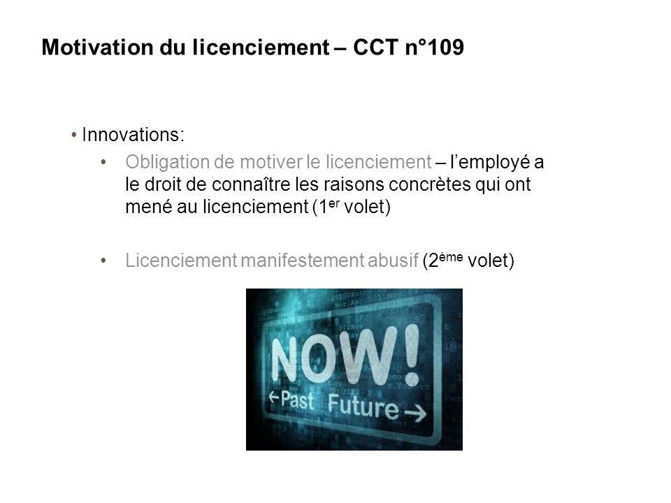 Innovations: Obligation de motiver le licenciement – l'employé a le droit de connaître les raisons concrètes qui ont mené au licenciement (1 er volet)