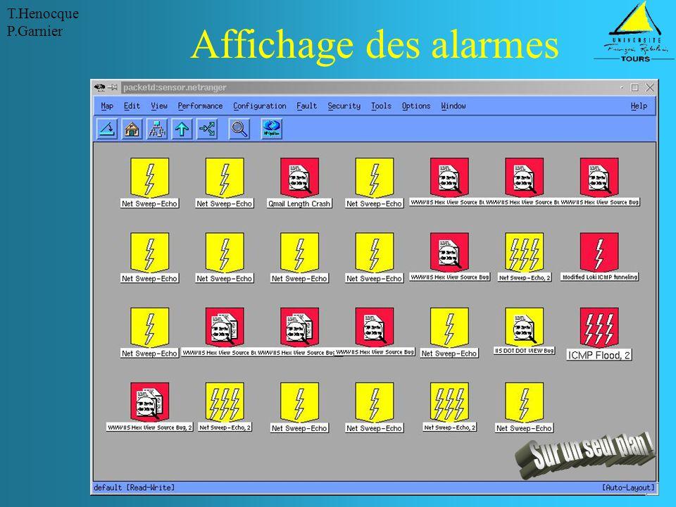 T.Henocque P.Garnier Affichage des alarmes