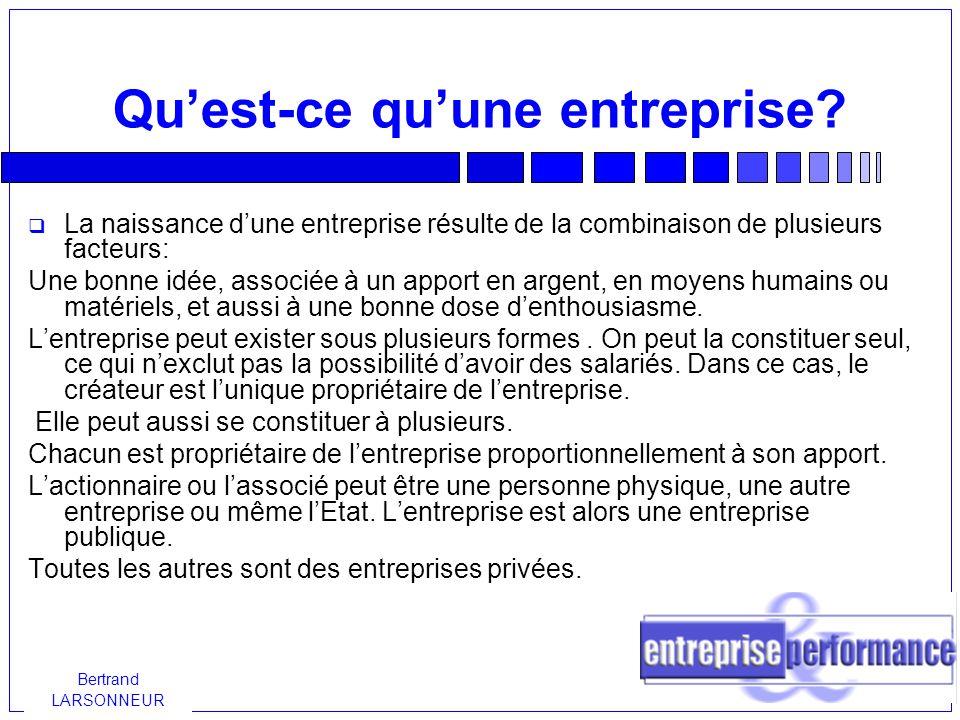 Bertrand LARSONNEUR Comment choisir son statut.Quel est le régime social du dirigeant .