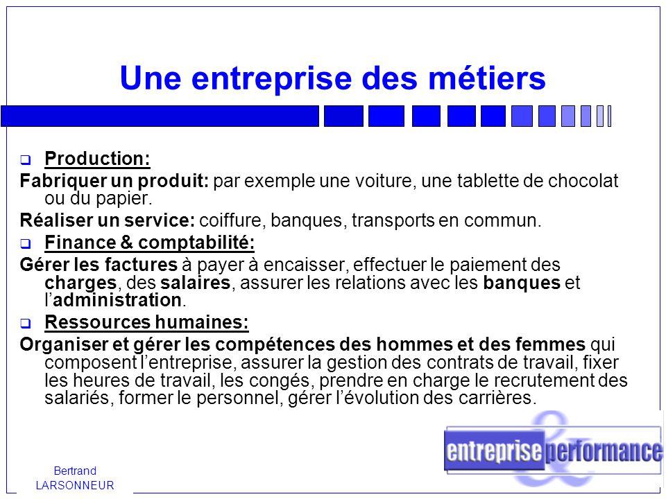 Bertrand LARSONNEUR Comment choisir son statut.Qui dirige l entreprise .