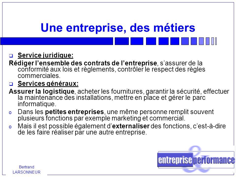 Bertrand LARSONNEUR Comment choisir son statut.Comment transmettre l entreprise .