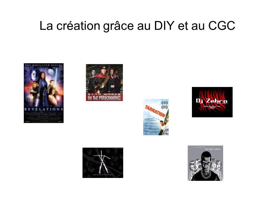 La création grâce au DIY et au CGC