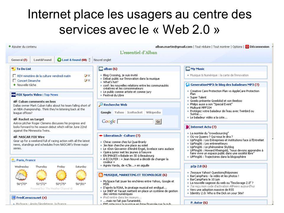 Internet place les usagers au centre des services avec le « Web 2.0 »