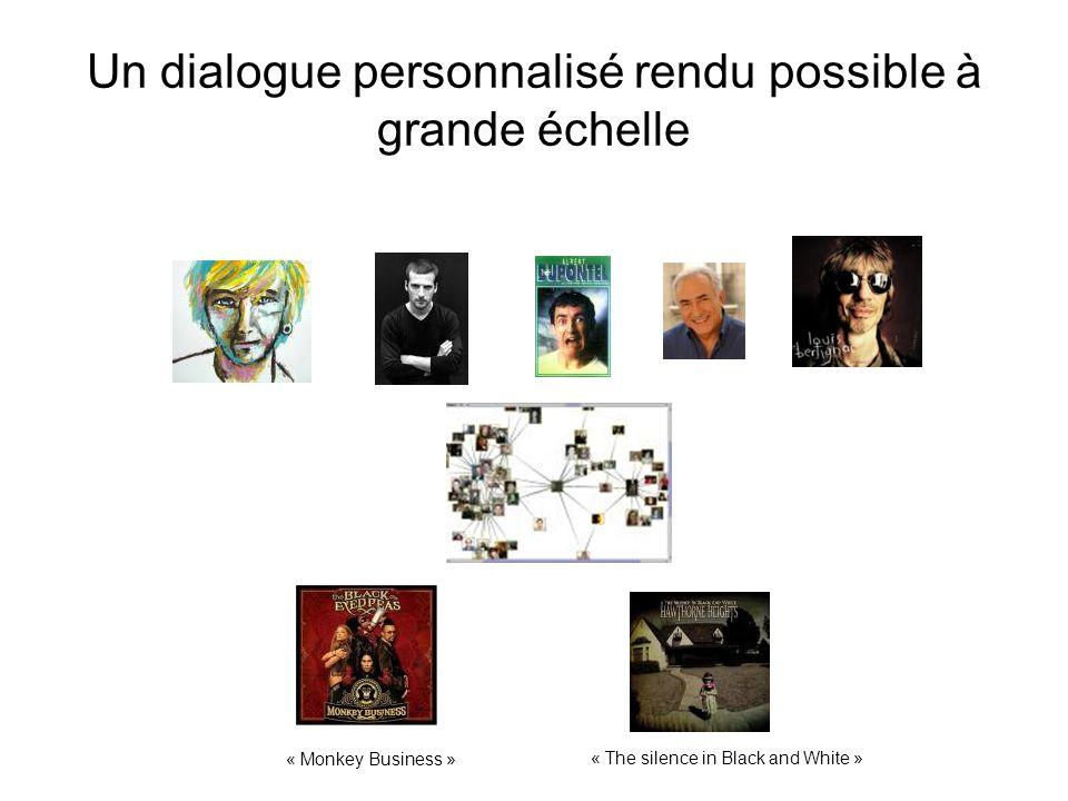 Un dialogue personnalisé rendu possible à grande échelle « The silence in Black and White » « Monkey Business »