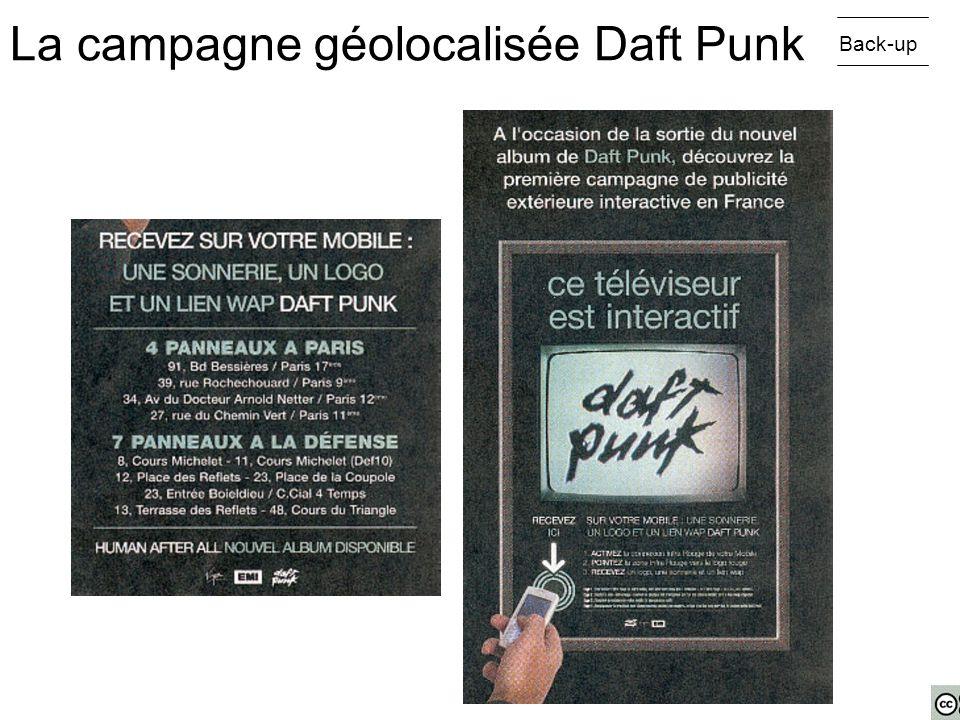 Back-up La campagne géolocalisée Daft Punk