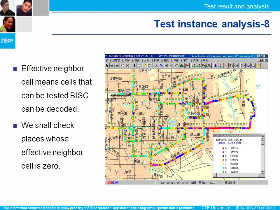 Test result and analysis Test instance analysis-8 Effective neighbor cell means cells that can be tested BISC can be decoded. We shall check places wh