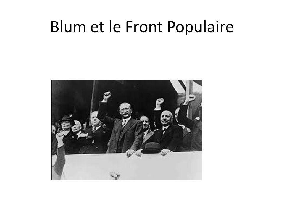 Blum et le Front Populaire