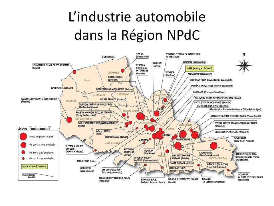 L'industrie automobile dans la Région NPdC