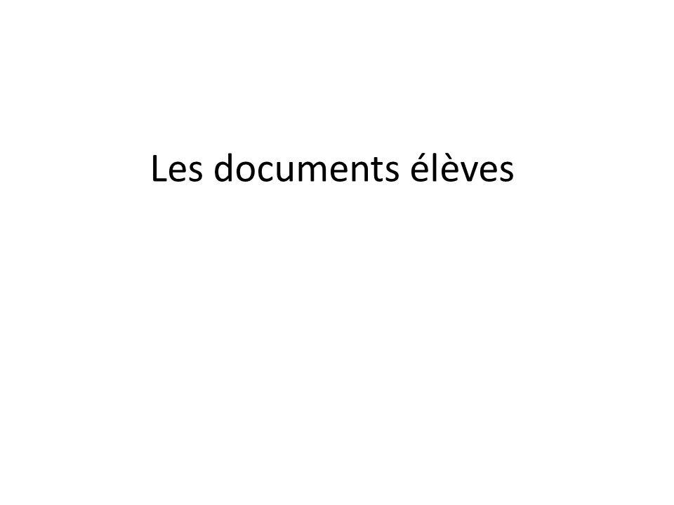 Les documents élèves