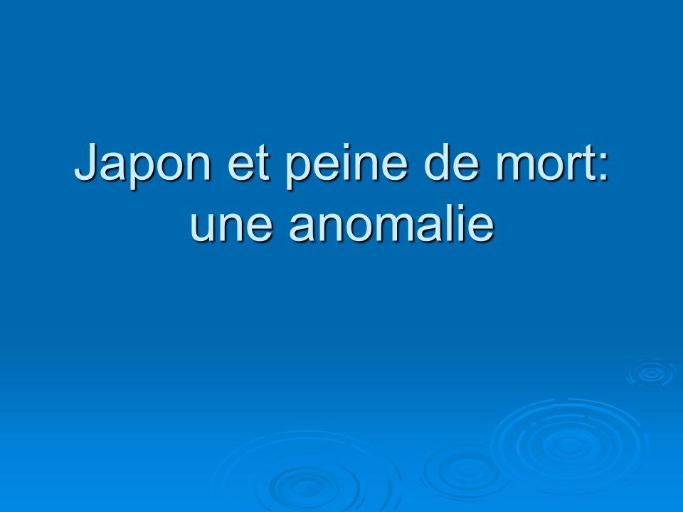 Japon et peine de mort: une anomalie