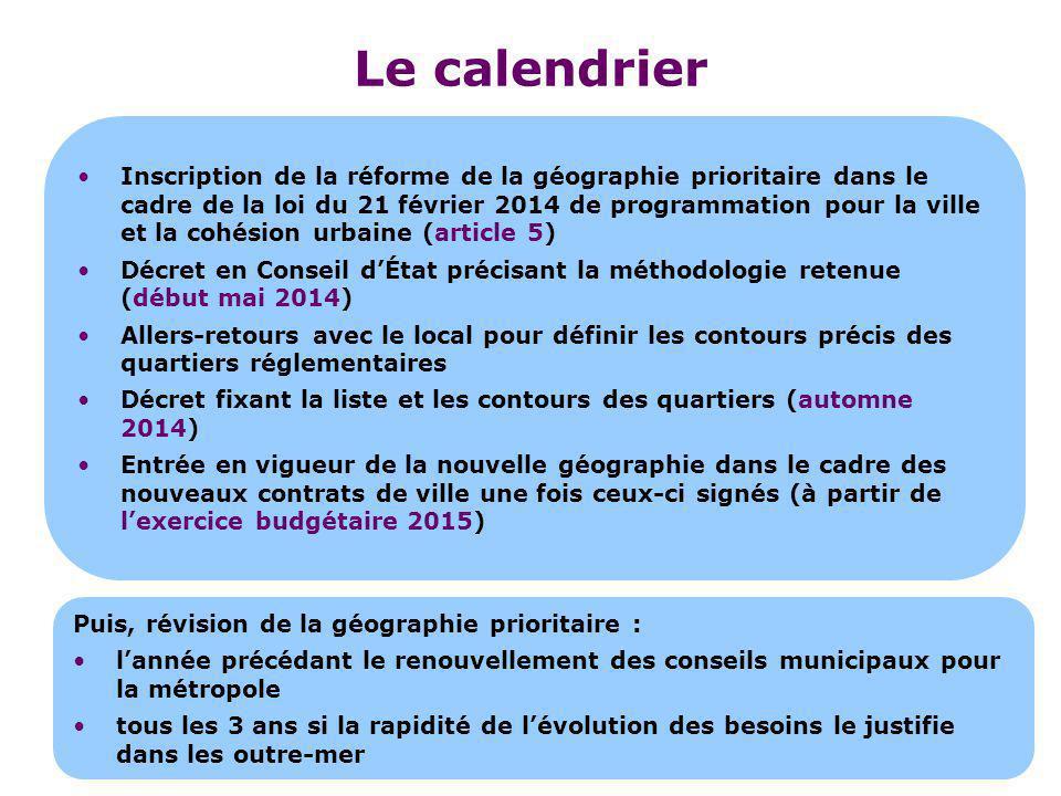 Inscription de la réforme de la géographie prioritaire dans le cadre de la loi du 21 février 2014 de programmation pour la ville et la cohésion urbain